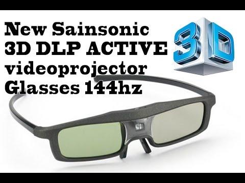 New Sainsonic 3D Glasses DLP ACTIVE Videoprojector At 144hz