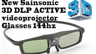 New Sainsonic 3D Glasses DLP ACTIVE videoprojector at 144hz