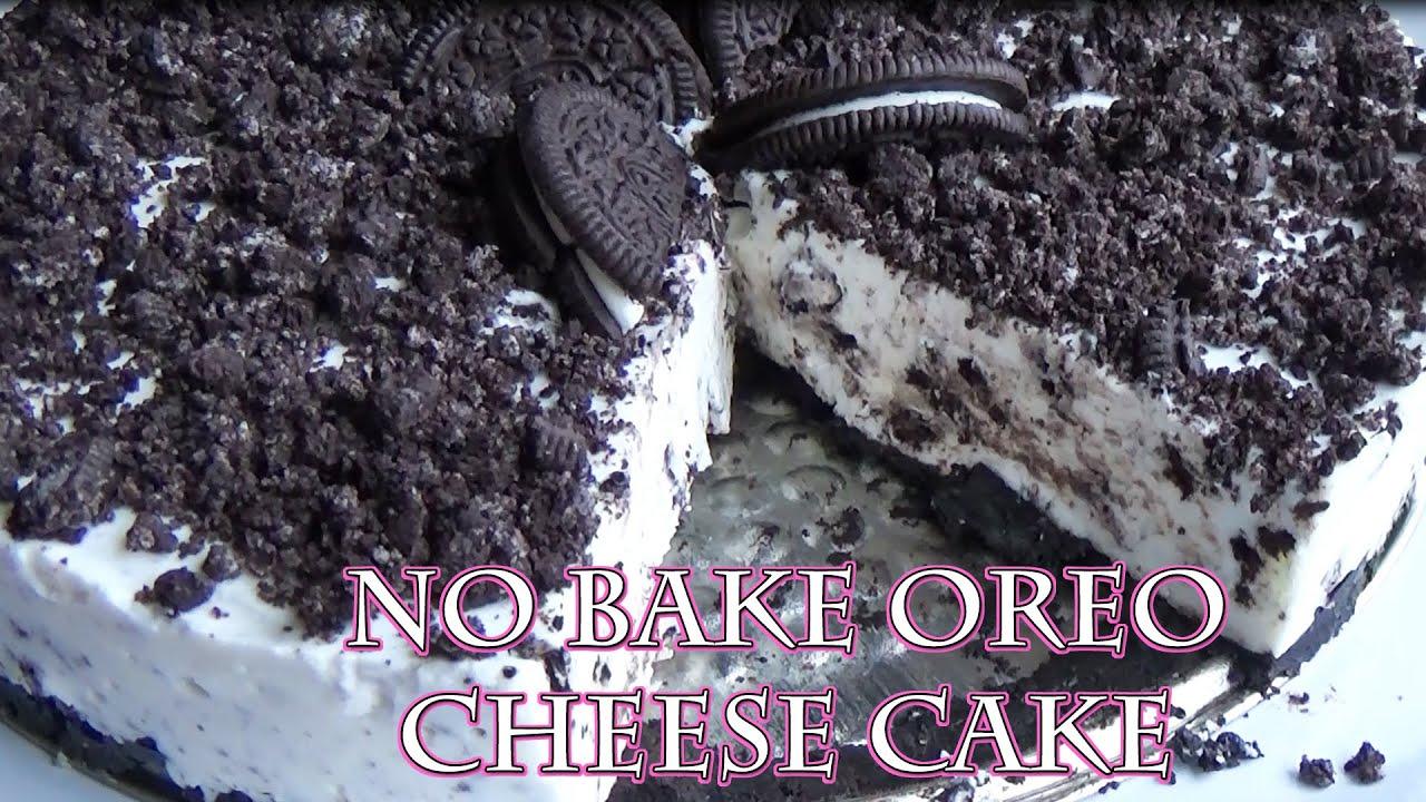 Oreo Cheese Cake Easy No Bake Low Calorie Recipe Youtube