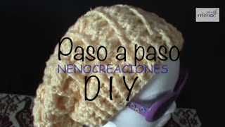 Repeat youtube video Gorro Boina Slouchy Adulto Ganchillo, Crochet Slouchy Beret 1 de 2 DIY