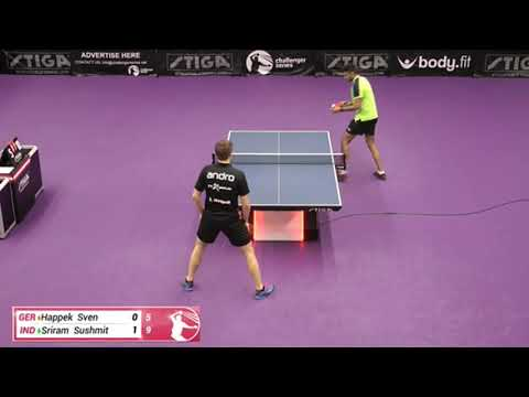 Sven Happek Vs Sushmit Sriram (Challenger Series February 6th 2020 Group Match)