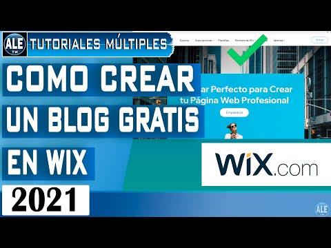 como-crear-un-blog-gratis-en-wix-2021