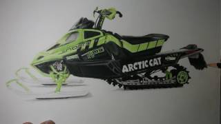 Realistic Snowmobile drawing