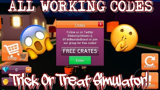 *ALL* WORKING CODES! October 2018 - Trick Or Treat Simulator (ROBLOX)