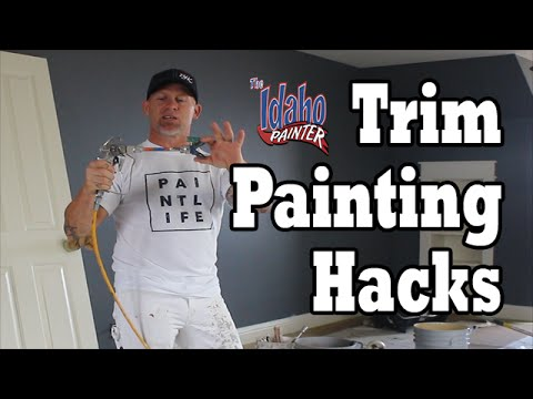 Interior Trim Painting Hacks. Diy How To Paint House Trim Work