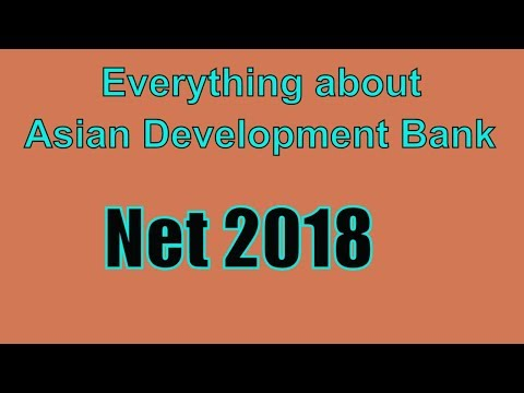 Important Facts about Asian Development Bank | 2018| NET Preparation Easy Way adb