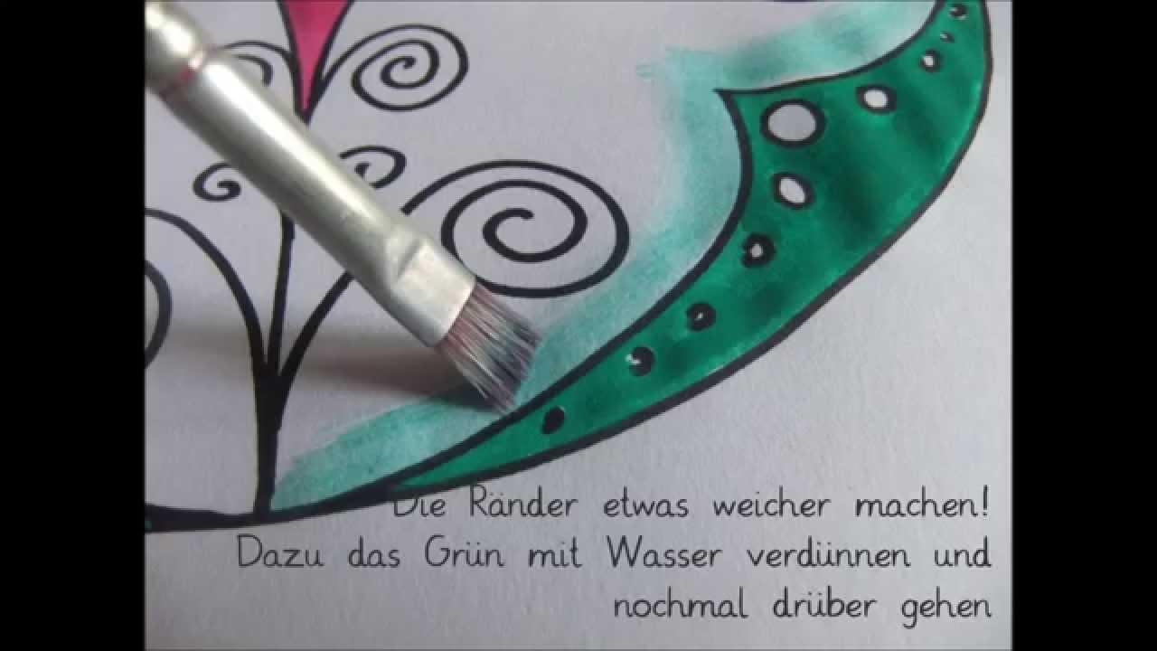 Mandala Malen Mit Wasserfarben 2 Fröbel