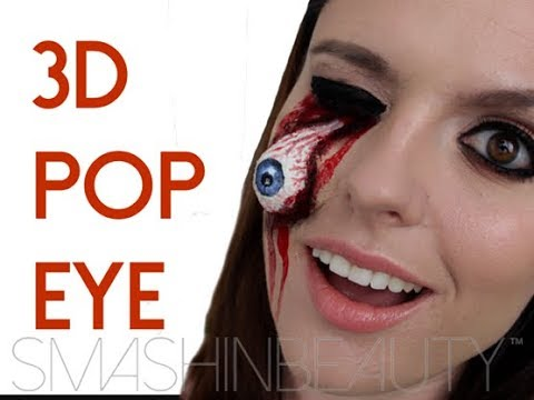 EASY 3D Pop Eye SFX Halloween Makeup Tutorial (ripped dislodged ...