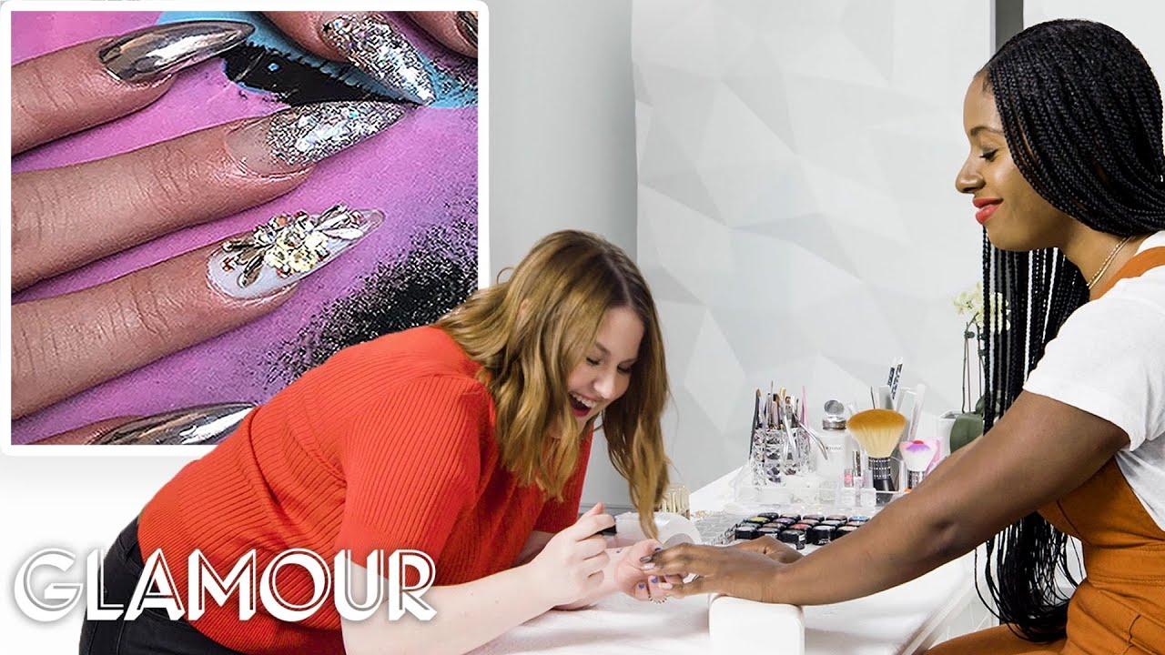 Working As a 3D Nail Artist for a Day | Temp Jobs | Glamour