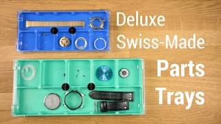 Watchmaker's Parts Trays Deluxe Organizers with Locking Lids