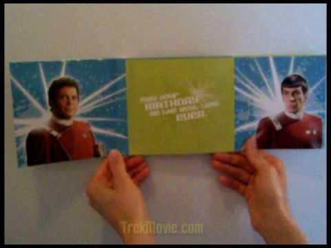 new talking star trek birthday card, Birthday card