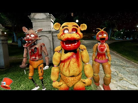 NIGHT OF THE LIVING ZOMBIE ANIMATRONICS! GTA 5 Mods For Kids FNAF RedHatter