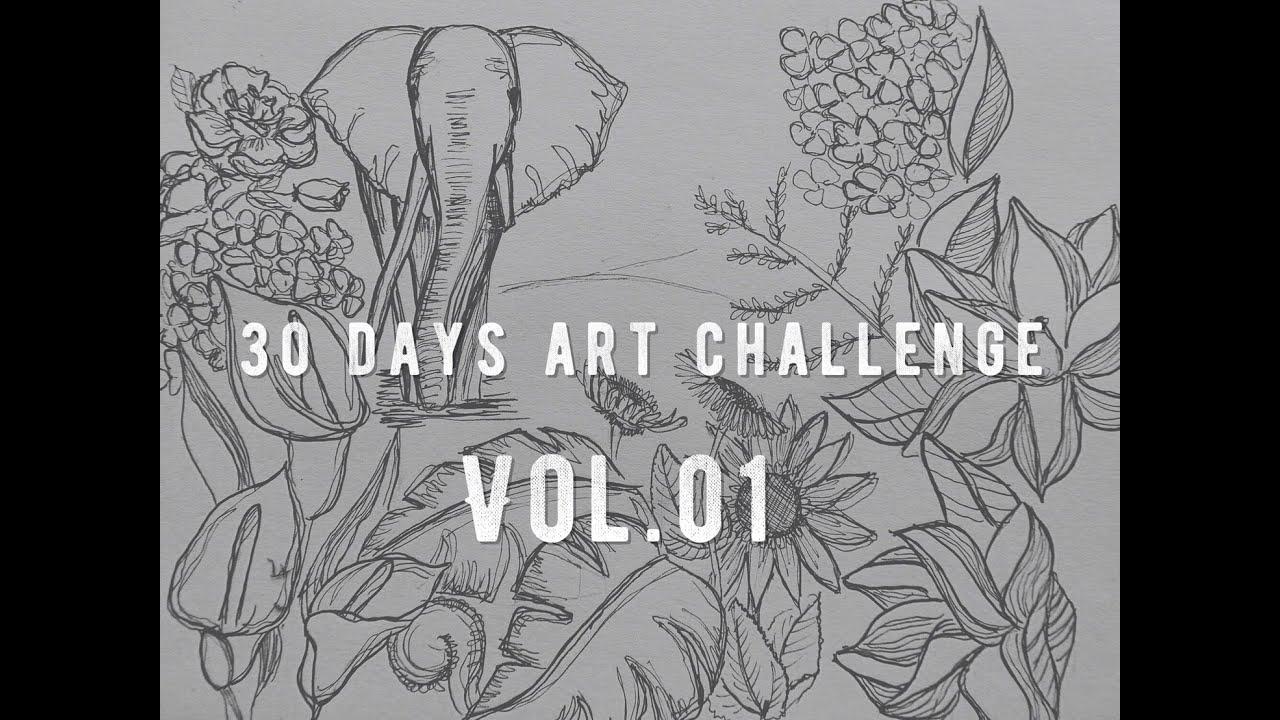The Line Art Challenge : Days art challenge vol youtube