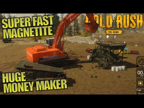 SUPER FAST MAGNETITE HUGE MONEY MAKER | Gold Rush: The Game | Let's Play Gameplay | S01E06
