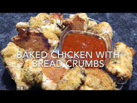 Very Easy And Tasty Homemade Baked Chicken With Bread Crumbs