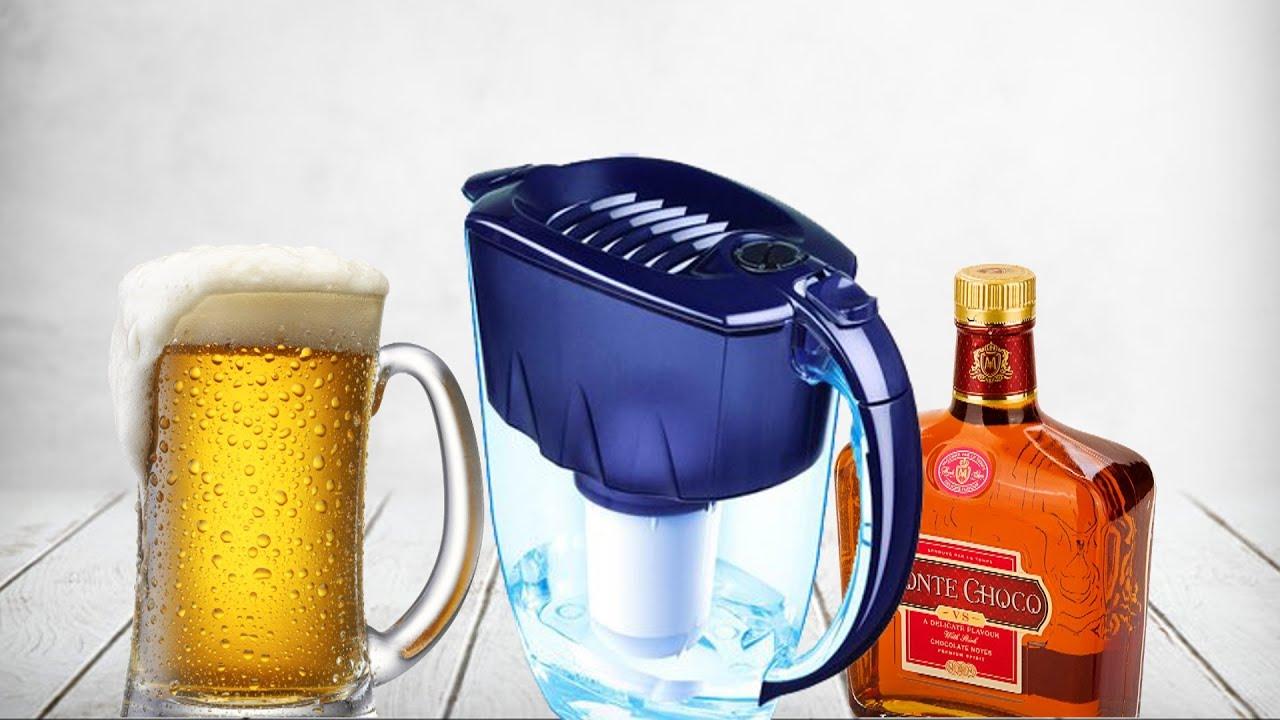 Профильтровал алкоголь через фильтр для воды . Проверяем наличие спирта