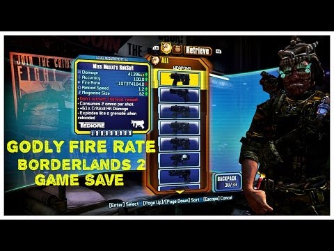 Godly Fire Rate | Borderlands 2 | Game Save