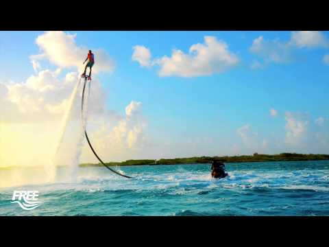 Flyboarding in Turks and Caicos