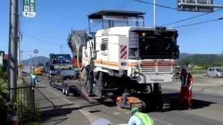 路面切削機 Wirtgen W200H 現場搬入