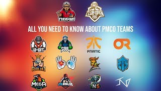 Introduction To PMCO FALL 2019 || THE TEAMS || ft. 8BIT, SOUL, FNATIC etc. ||