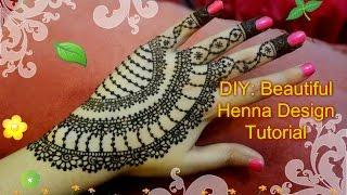 diy beautiful spring henna mehndi design tutorial for eid weddings party etc
