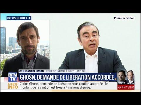 Carlos Ghosn devrait à nouveau sortir de prison au Japon dans les prochaines heures