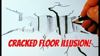 How To Draw A Cracked Floor Illusion