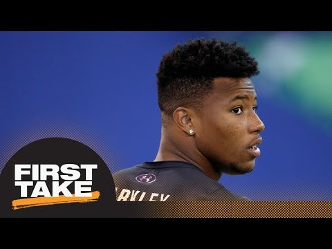 First Take debates if Browns should draft Saquon Barkley | First Take | ESPN