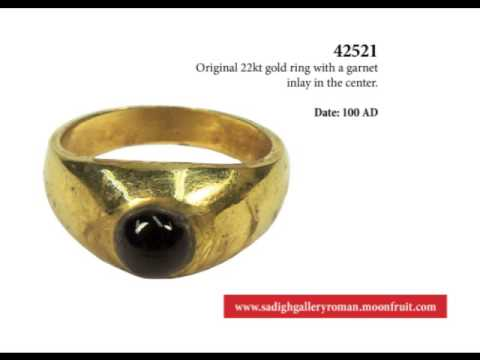Sadigh Gallery's Collection of Ancient Roman Jewelry and Intaglios