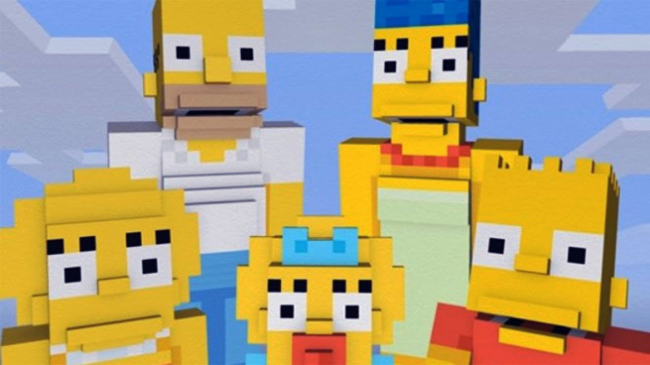 MINECRAFT - The Simpsons Skin Pack - YouTube