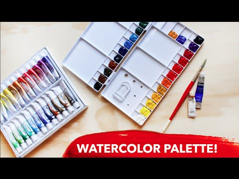 Setting Up a New Watercolor Palette! | Paige Poppe