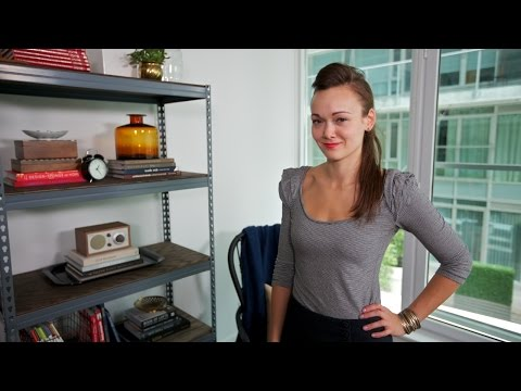Interior Design — DIY Simple & Inexpensive Industrial Bookshelf Project