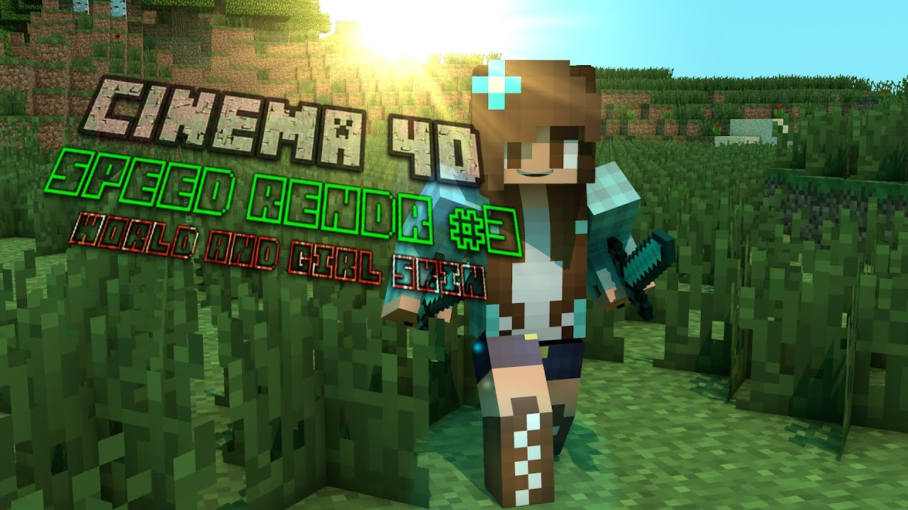 how to make a minecraft profile picture with cinema 4d