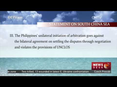 Pivot to Asia - China calls on settlement with Philippines through bilateral negotiation 07Jun2016