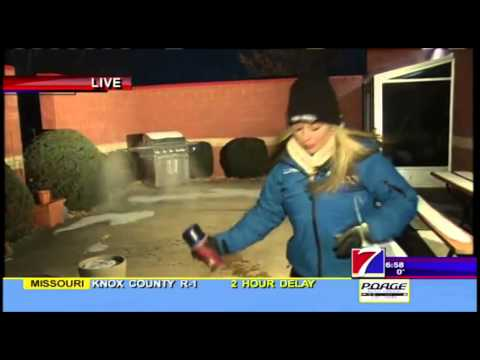 Demonstrations of the effects of wind chill - KHQA's Lauren Kalil
