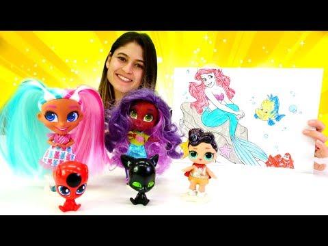 Çocuklar Için Eğitici Video. Oyuncak Kreşi: Denizkızı Ariel'i Boyayalım!