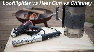 How to light charcoal Looftlighter vs Heat Gun vs Chimney