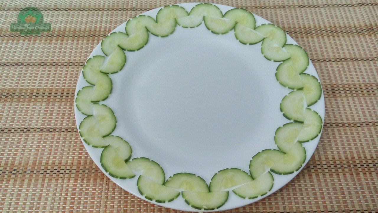 Vegetable Plate Decoration 04 Vietnam Food Channel Youtube