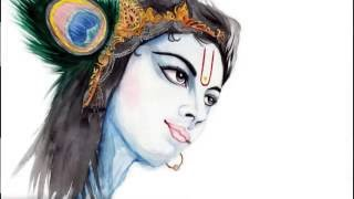 How to Draw Lord Sri KRISHNA DRAWING, PAINTING & COLORING KRSNA