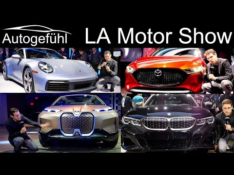 Los Angeles LA Motor Show Highlights REVIEW With BMW M340i Porsche 911 Mazda3