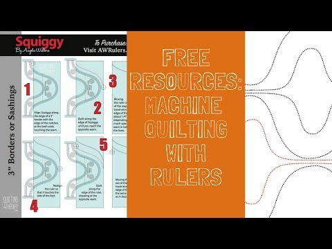 New!! Quilting with Rulers Downloadable Resource Sheets by Angela Walters