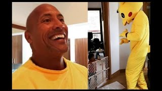 The Rock In Pikachu Outfit For Daughter