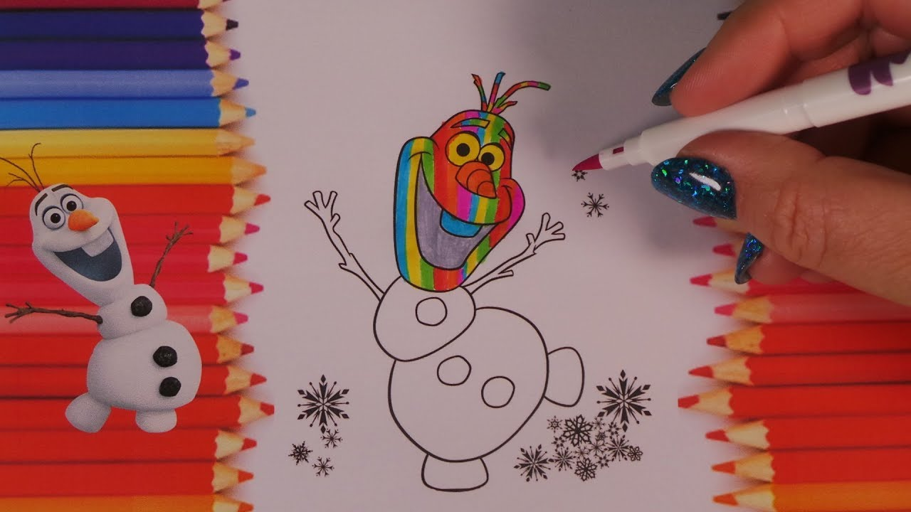 Frozen Coloring Pages Olaf And Sven : Happy olaf coloring pages olaf's frozen adventure disney's frozen