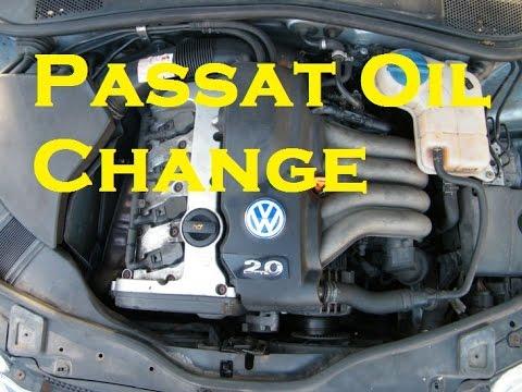 Oil and Oil Filter Change on Volkswagen Passat S 130 - YouTube