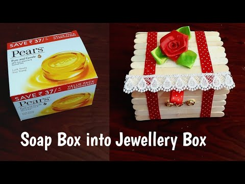 Soap Box into Jewellery Box # DIY Ice cream sticks Jewellery box #Best out of waste popsicle craft#