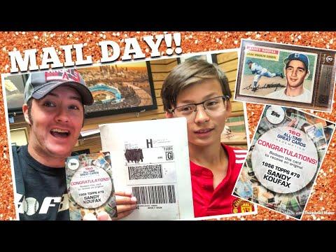 MAIL DAY!! 1956 Topps Sandy Koufax! • Shop Vlog #17