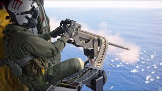 Door Gunners & Snipers Engage Targets At Sea [Training video]