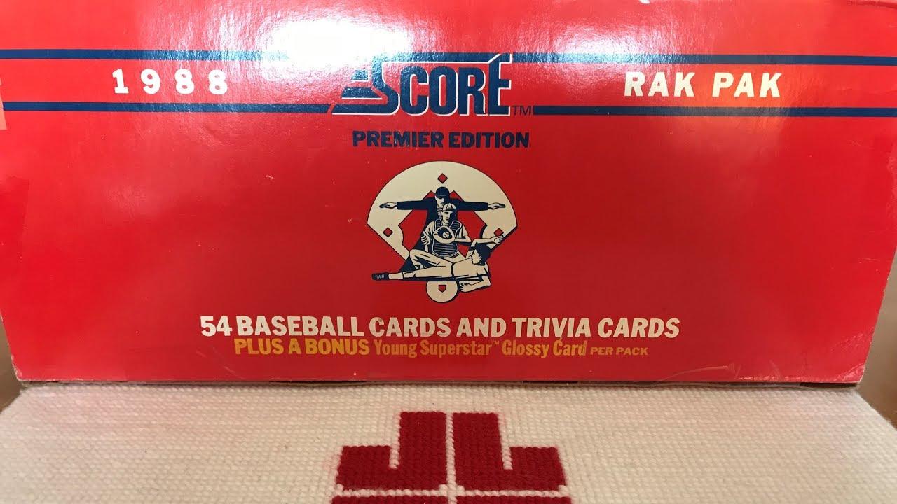 1988 Score Baseball Rack Packs Hall Of Famers
