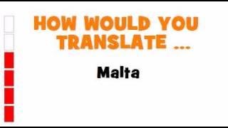 German Translation Quiz = Malta
