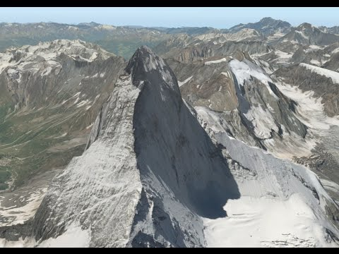 Alps  Matterhorn Sightseeing Flight|Ortho realistic |Cinematic|